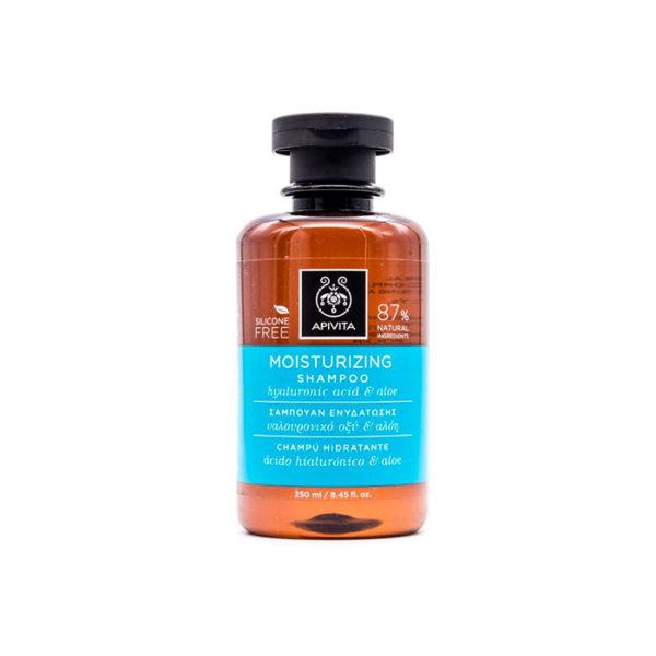 Apivita Champú Hidratante con Ácido Hialurónico Hidrolizado